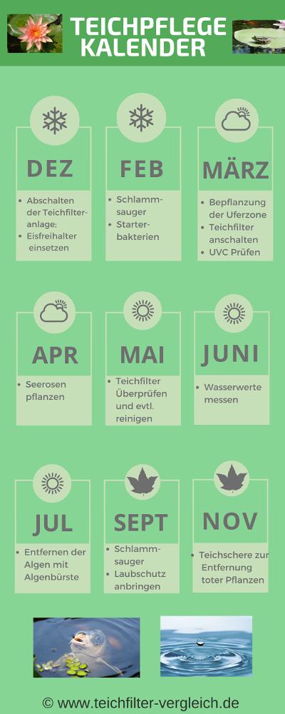 Teichpflege Kalender